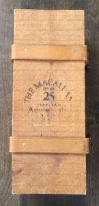 RARE FIND!! The Macallan 25th Anniversary Edition Malt Empty Wooden Box/Straps B