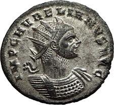 AURELIAN Genuine 274AD Authentic Ancient Original Roman Coin SOL SUN i65435