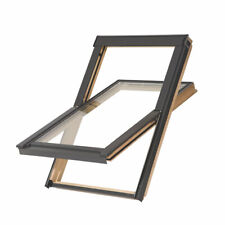 TYREM C2A MANUAL CENTRE-PIVOT LACQUERED WOODEN ROOF WINDOW CLEAR 550 X 780MM