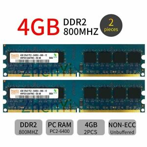 8GB 2x 4GB 2GB 1GB DDR2 PC2-6400U 800MHz Desktop DIMM Memory For Hynix LOT UK