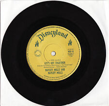 "HAYLEY MILLS - LET'S GET TOGETHER Very rare 1961 OZ DISNEYLAND 7"" Single!"