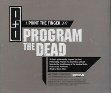 Point The Finger [Promo Single] by Program The Dead (Cd 2005) [1 trk]