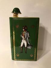 CAMUS Cognac Napoleon Book Ceramic Bottle Green Empty Bottle
