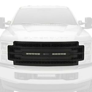 For Ford F-250 Super Duty 17-19 Main Grille 1-Pc ZROADZ Series Black Laser Cut