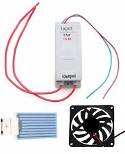 12 Volt Dc - 3.5 gr/hr Moisture Proof Ozone Generator Kit with an 80mm 12v fan
