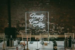 Neon Sign Happily Ever After HIRE, Wedding Event Decoration Hire,