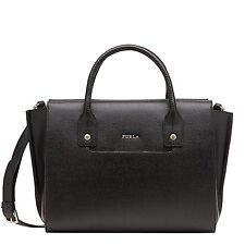FURLA LINDA Handbag shopping bag S in saffiano leather ONYX
