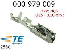 Terminals Female MQS F063 Tin Plated Terminal 0.25 - 0.5mm2 TYCO 10pcs 000979009