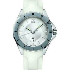 Genuine Calvin Klein Gents watch with date on white Rubber strap K2W21YM6 £225