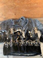 Vintage Mazmania Fleece Equestrian Horse Acrylic Zip Up Jacket XL Usa C15