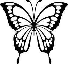 Butterfly Vinyl Decal Monarch Lepidopterology Insect STICKER Window Car Wall Art