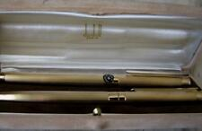 MONTBLANC NOBLESSE SET FOUNTAIN PEN + PENCIL FOR DUNHILL - GOLD PLATED LINED