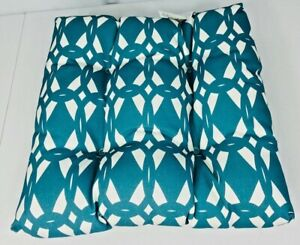 E by design geo-craze geometric outdoor cushion 19 x 18 color teal