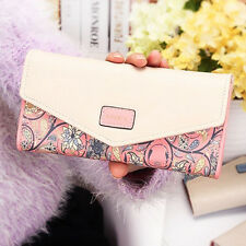 Women Lady Leather Clutch Wallet Long PU Card Holder Purse Handbag