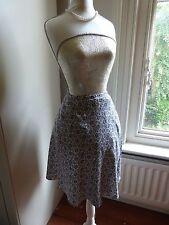 Pretty little wrap skirt Marks and Spencer UK8 light grey dark blue grey flowers