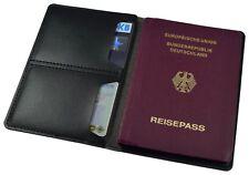 Reisepass Hülle Etui Mappe Schwarz Bank Kartenhülle Reisetasche Schutzhülle WOW