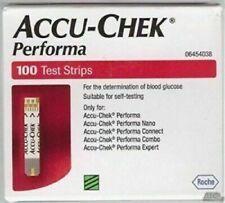 Accu Chek Performa Diabetic Test Strips Box Bulk Strips 100