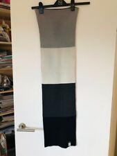InWear block print scarf - cream, grey & black