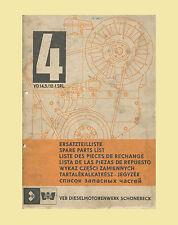 VEB Dieselmotor VD 14,5/12-1 SRL Ersatzteilliste Original