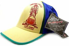 ECKO UNLIMITED Jimmy Hendrix Flexfit Fitted Baseball Cap Yellow with Blue