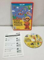 Wii U Super Mario Maker CIB (Nintendo Wii U, 2015)Clean Disc Tested Works Great