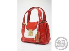AUTH PRE-OWNED LOUIS VUITTON ENAMEL LEATHER SAC BICOLORE RED TOTE M92514 133154