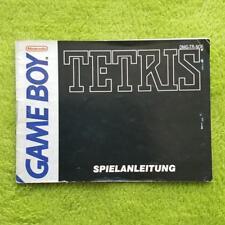 Gameboy - Tetris Instrucciones Manual Manual Folleto