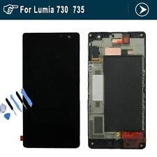 for Nokia Lum 730 735  LCD Display Screen Touch Digitizer with Frame Black