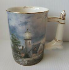 "Thomas Kinkade ""A Light in the Storm"" Lighthouse Cup Mug 2002"