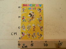 STICKER,DECAL SHEET WITH STICKERS INTRODUCT DISNEY MICKEY MOUSE SPORT