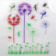 1PCS Clear Rubber Stamp Mulitcolor Dandelion Transparent Stamp DIY Scrapbooking