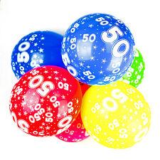 50 globos de Cumpleaños Con Estampado Números Fiesta Látex CALIDAD - Pack de 10