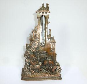 Bronze Thermometer um 1900 Reineke Fuchs