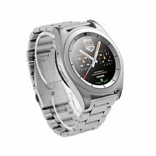 Bluetooth Smart Watch Stainless Steel Wristwatch for Men Women Samsung LG Huawei