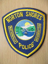 Patches: NORTON SHORES NATIONALLY ACCREDITED POLICE PATCH (NEW. apx.4.4x4 inch)