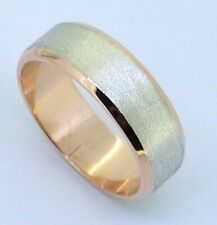 10k Two Tone Gents Wedding RING