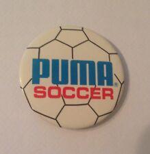 Puma Soccer Pin Badge - Vintage Sports - American - Football- White