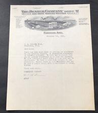 Antique Advertising Letterhead 1925 The Dexter Company Washing Machine Iowa