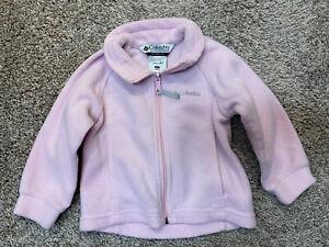 Toddler Girl Pink 2T Fleece Zip Up Columbia Jacket Coat, Winter