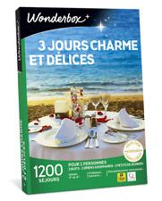 Coffret WONDERBOX  3 jours charme et délices  ( E-COFFRET )