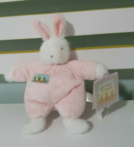 BUNNIES BY THE BAY BABY RATTLE BUNNY RABBIT TOY 17CM BLOSSOM SWEET HOPS PINK