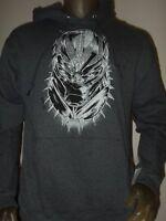 New Men's M-XXL Gray The Black Panther Marvel Comics Erik Killmonger Face Hoodie