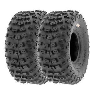 SunF 22x10-8 Rear ATV Tires 22x10x8 Knobby Tubeless 6 PR A030  [Set of 2]