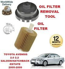 FOR TOYOTA AVENSIS 2.0 2.2 2005-2009 NEW OIL FILTER & OIL FILTER REMOVAL TOOL