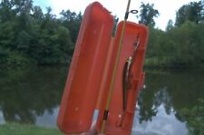 (5) The Protector Fishing Lure Case, wrap, no tangled lines, snaps around rod