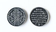 """IRISH BLESSING"" - PEWTER POCKET PRAYER COIN / MEDAL / TOKEN"