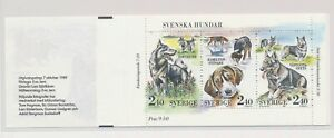 LO37650 Sweden 1989 pets animals fauna dogs good booklet MNH