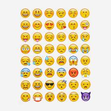 Emoji Emoticon Aufkleber Sticker Verzieren Handy Telefon Möbel Büro 48 Stück