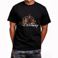 Malt Whiskey Disney shirt Black Gildan Cotton Mens Black T-Shirt Size S-3XL