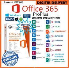 Ms Office 365 Pro Plus Lifetime Account For 5 Pcs Mac Win 5 TB Cloud